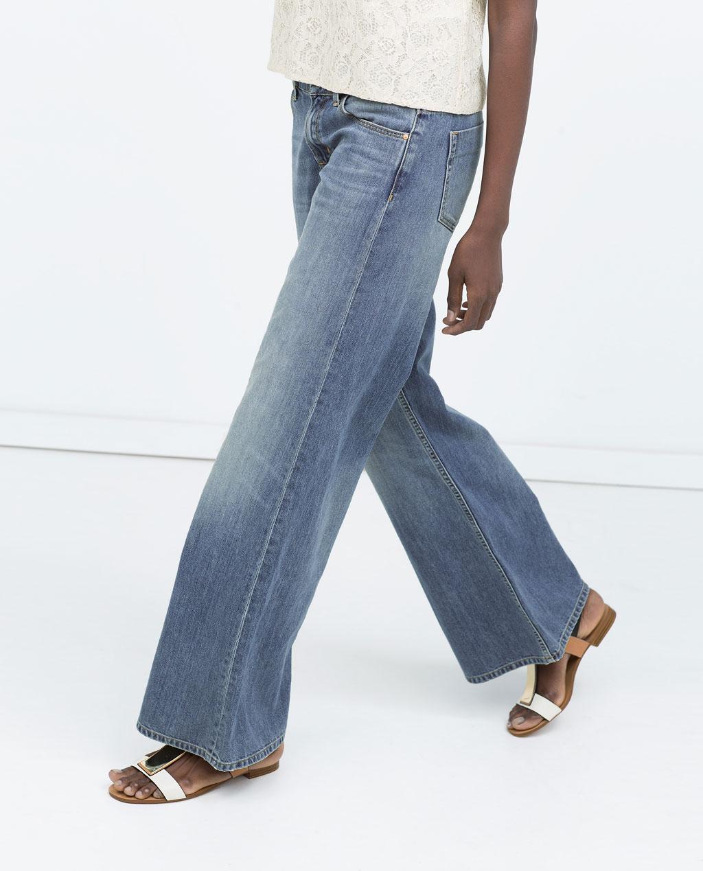 Wide leg jeans fashion 70