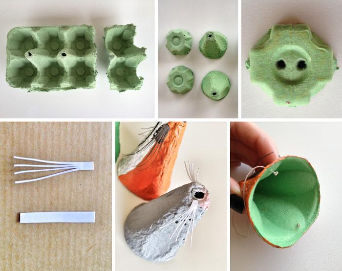 Manualidades para ni os con hueveras blog de dia - Materiales para hacer paredes ...