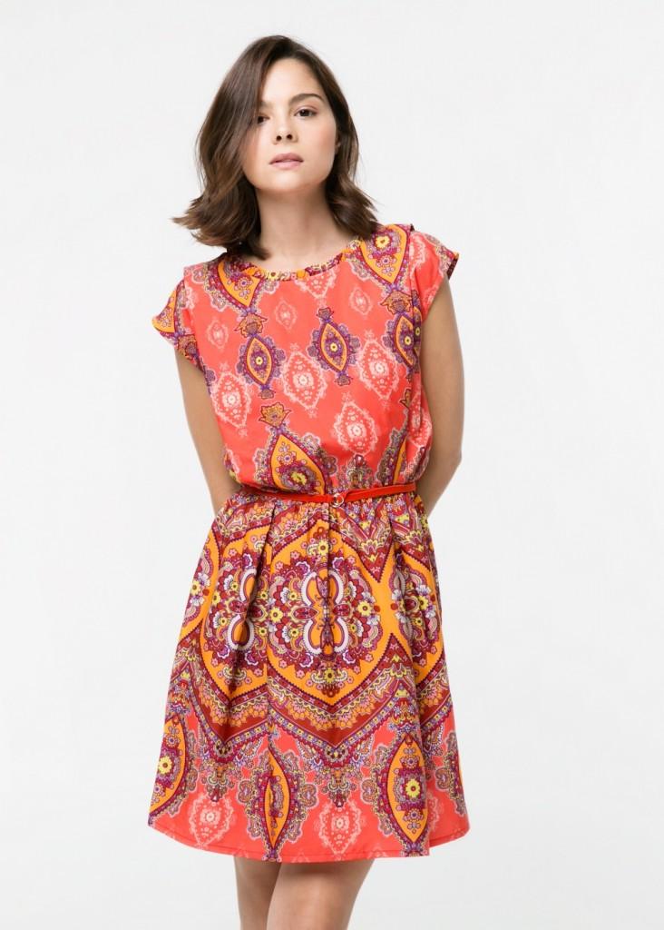 vestido étnico de mango