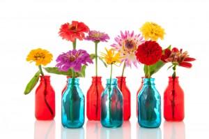 botellas de vidrio para flores