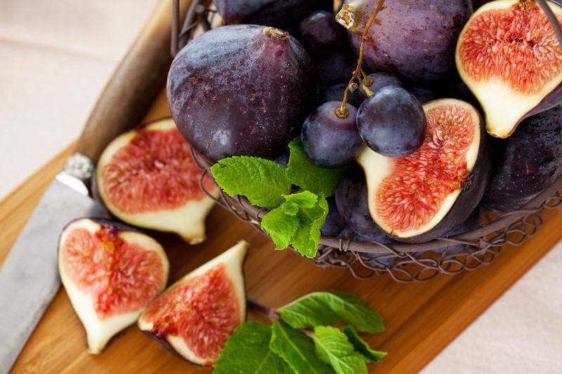 higos y uva