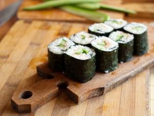 Receta de sushi sin pescado