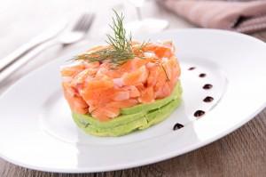 Receta de tartar de salmón y aguacate