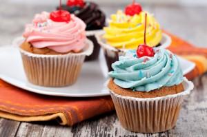 Cupcakes de vainilla sin gluten