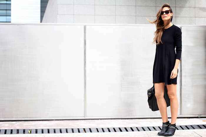 little black dress zara