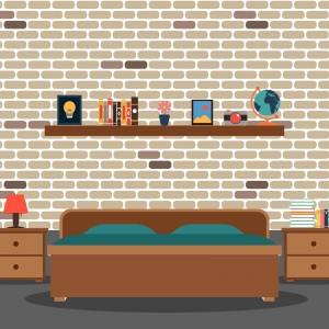 El original estilo de las paredes de ladrillo dentro de casa