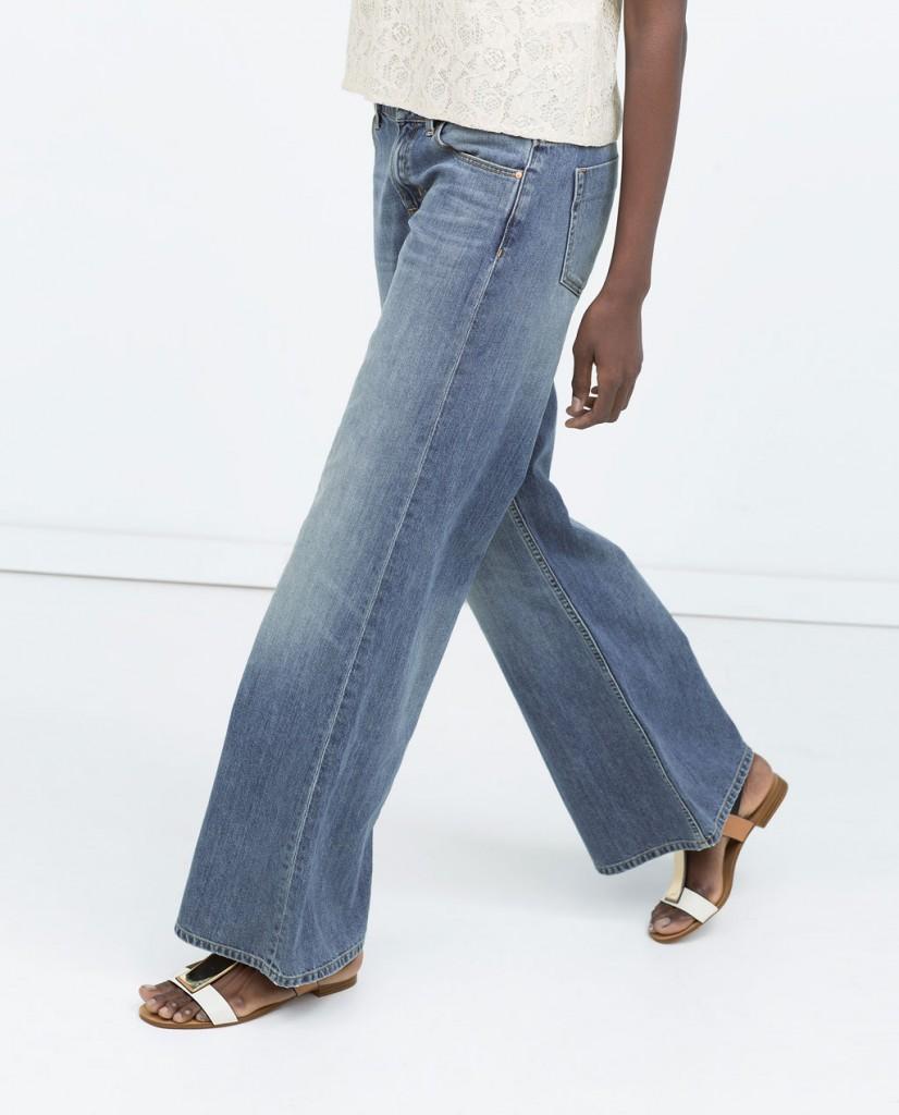 pantalones de campana vaqueros