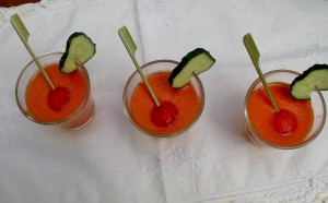 Gazpacho de tomate y sandía (por Chary Serrano)