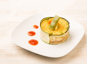Cuscús con verduritas  al curry