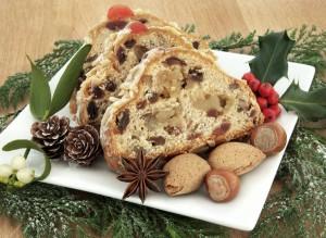 Stollen o pastel navideño alemán