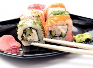 Sushi maki colorido