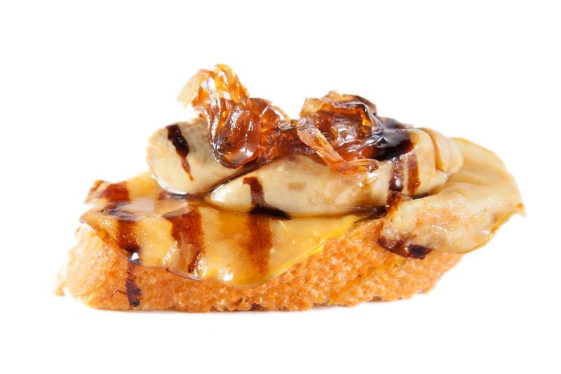 tosta de foie gras y cebolla