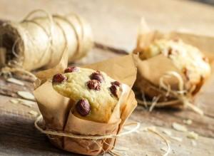 Muffins de vainilla con avellanas