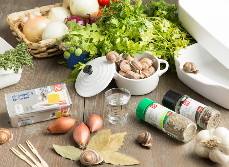 ingredientes Caracoles de Borgoña