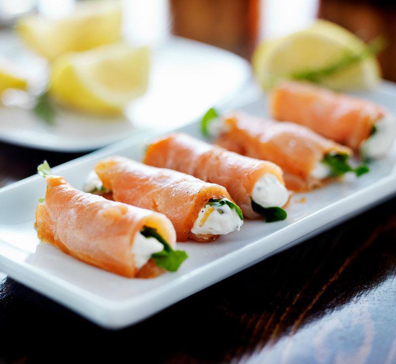 rollitos de salmon