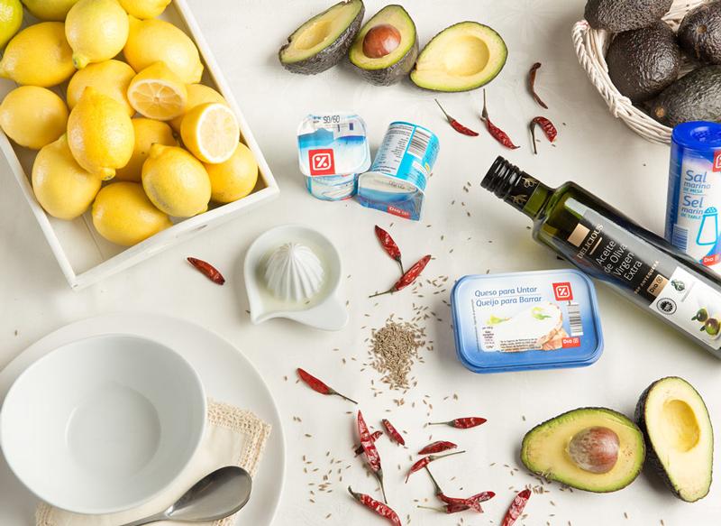 Ingredientes de Crema de aguacate con chile y comino