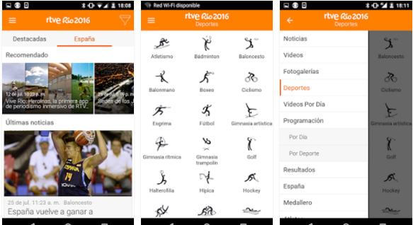 app RTVE Rio