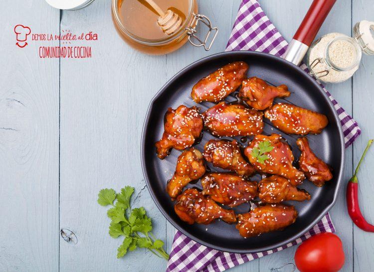 Alitas de pollo al horno con miel