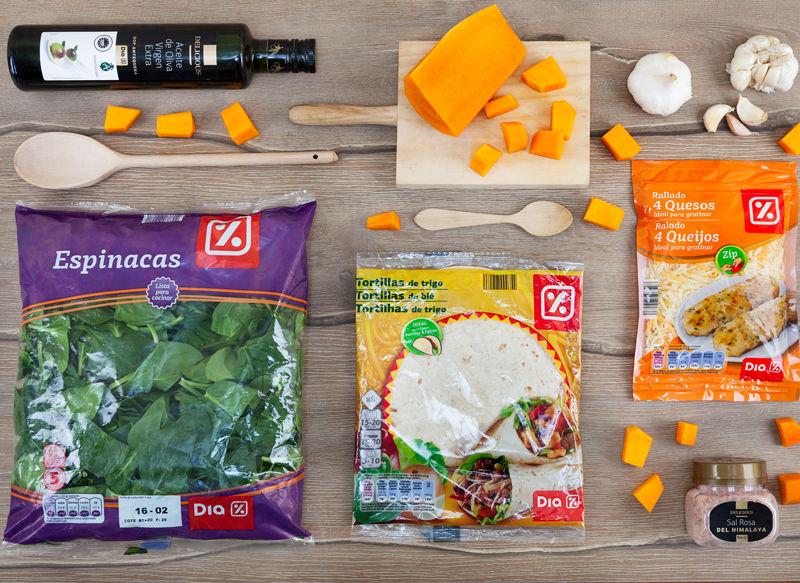 ingredientes-quesadilla-de-calabaza-y-espinacas