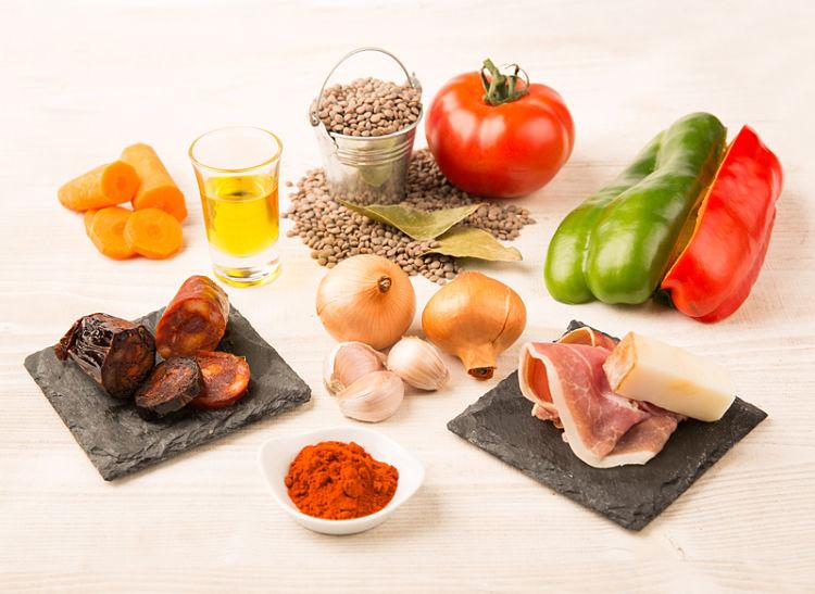 ingredientes de lentejas