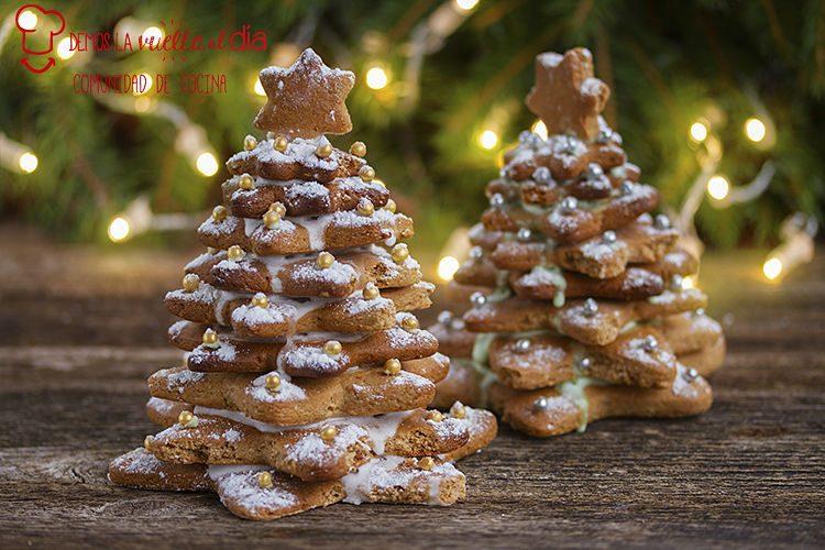 Árbol de Navidad con galletas de jengibre
