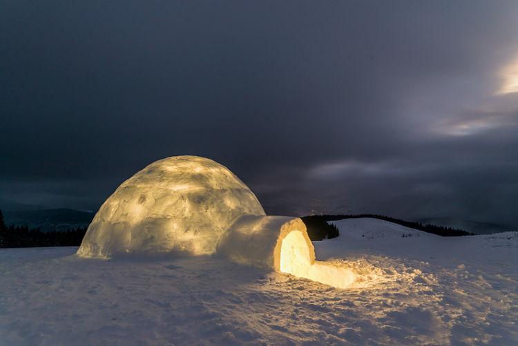 nochevieja en un iglu