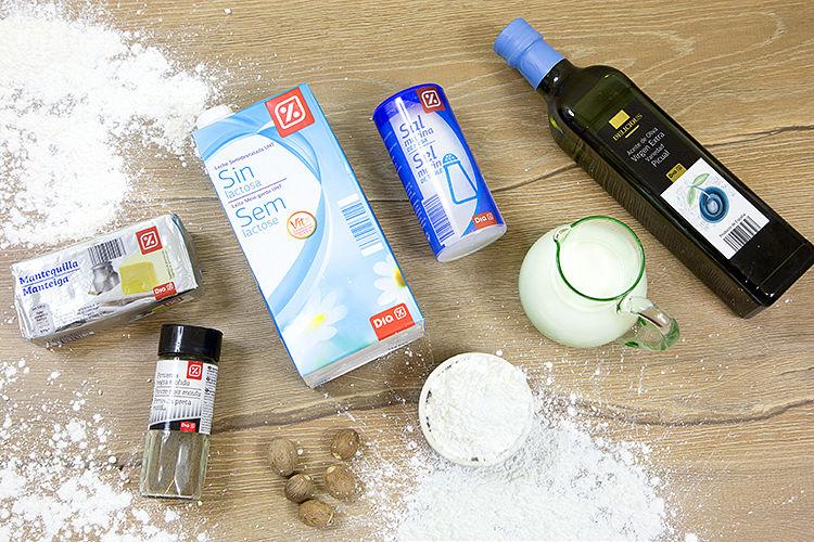 Ingredientes salsa bechamel