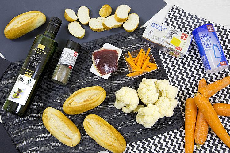 ingredientes de canape de jamon