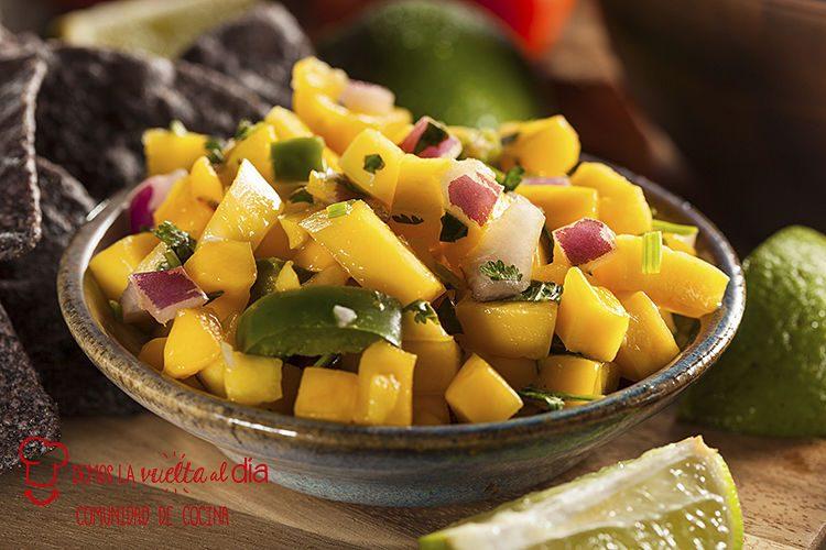 Salsa o guarnición de mango