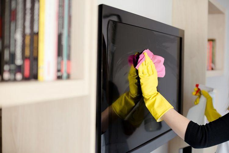 limpiar pantalla de plasma