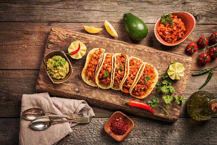 tacos burritos fajitas