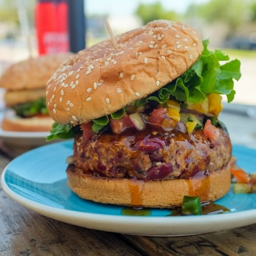 Hamburguesas veganas con soja texturizada