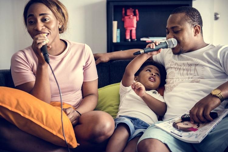 karaoke en familia