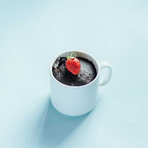 brownie en taza