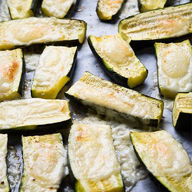 Calabacines con queso de cabra al horno